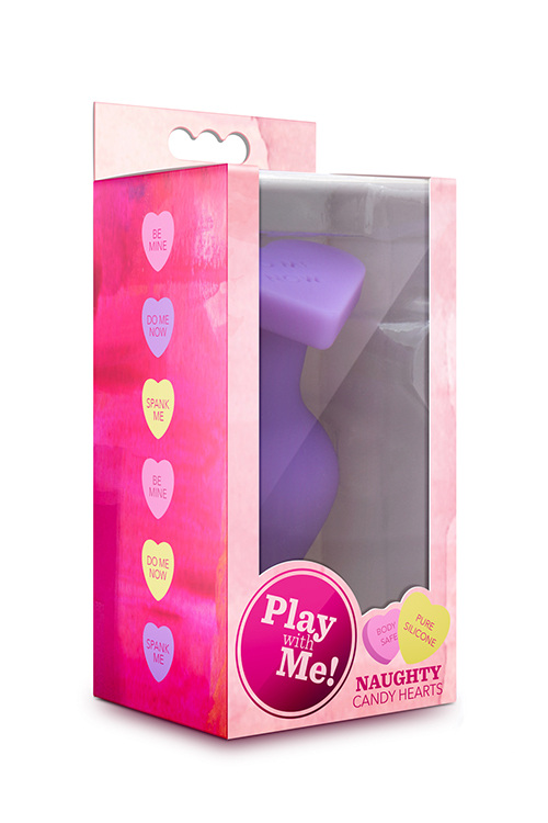 PLAY WITH ME CANDY HEART DO ME PURPLE