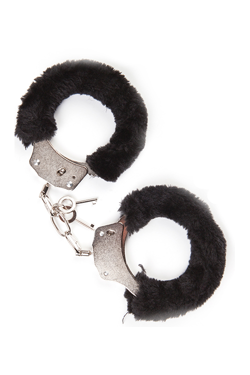 MAI No.38 METAL FURRY HANDCUFFS BLACK