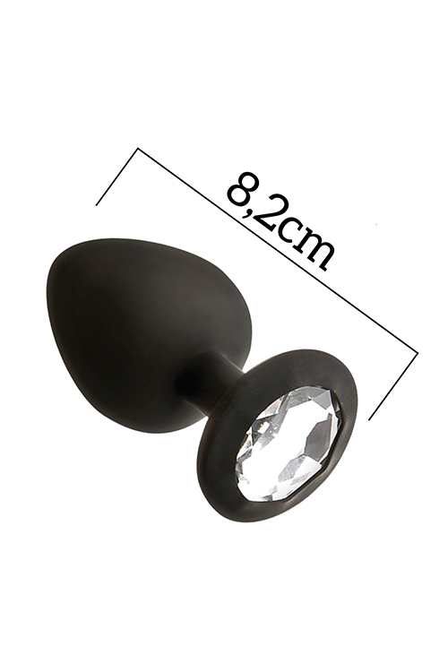 MAI No.48 ANAL PLUG WITH STONE M BLACK